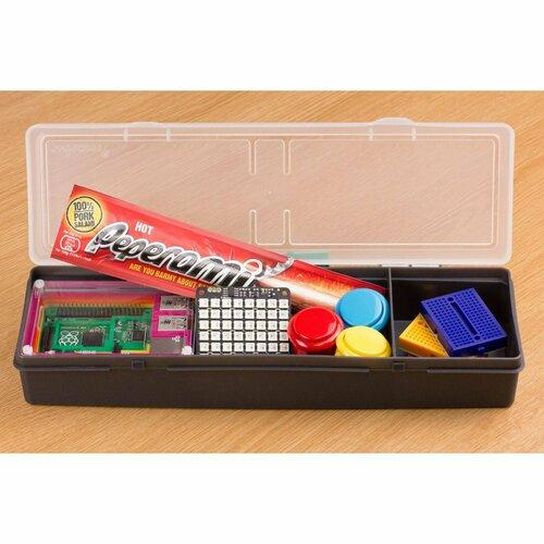 Component Storage Box - 2 Compartment - Graphite