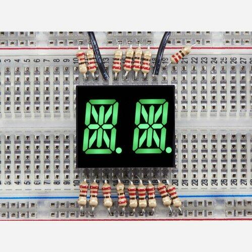 Dual Alphanumeric Display - Green 0.54 Digit Height - Pack of 2