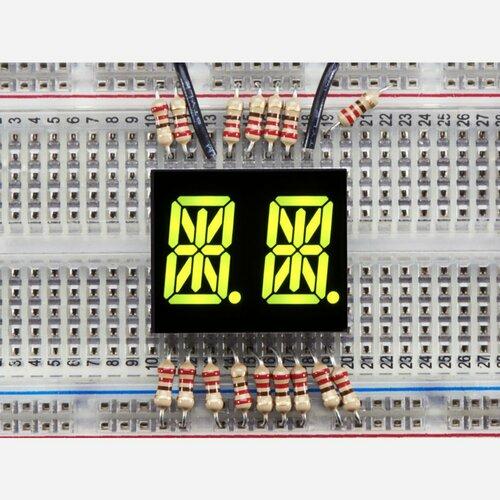 Dual Alphanumeric Display - Yellow-Green 0.54 - Pack of 2