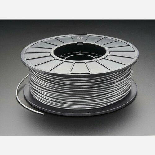 PLA Filament for 3D Printers - 3mm Diameter - Silver - 1KG