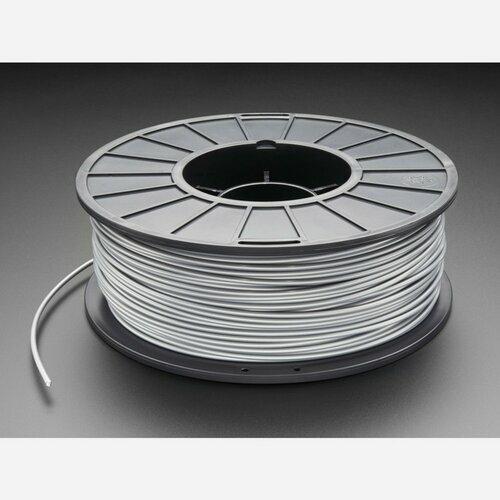 ABS Filament for 3D Printers - 3mm Diameter - Silver - 1KG