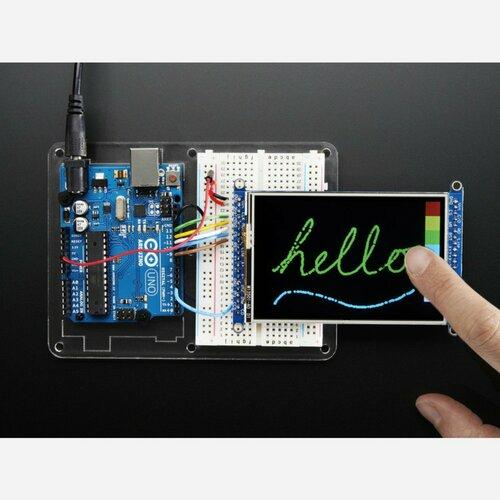 3.5 TFT 320x480 + Touchscreen Breakout Board w/MicroSD Socket [HXD8357D]