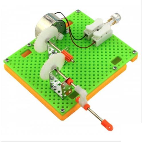 Hand Crank Generator + LED Kit