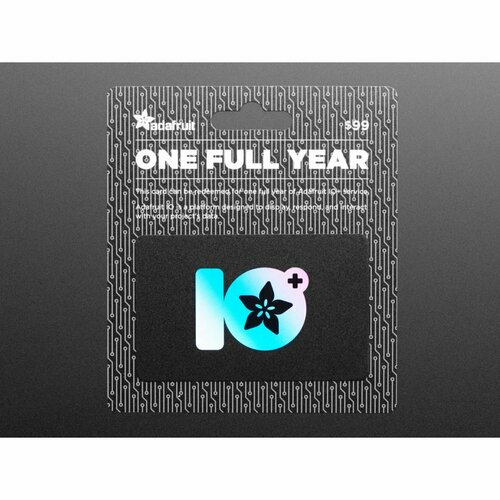 Adafruit IO+ 1 Year Subscription Card