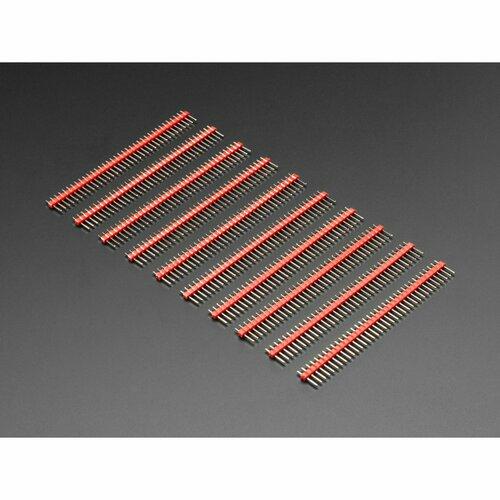 Break-away 0.1 36-pin strip male header - Red - 10 pack