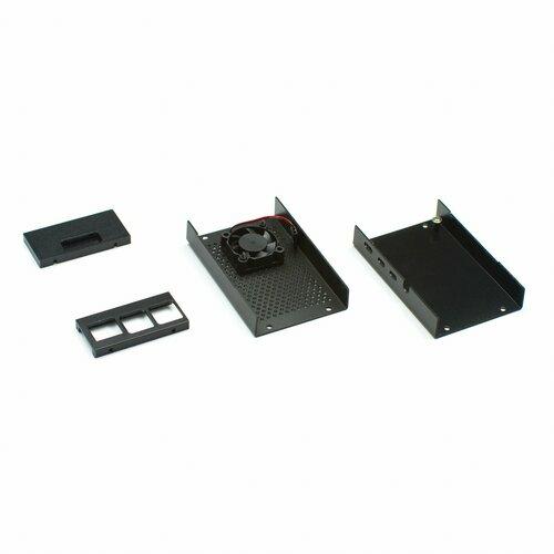 Raspberry Pi 4 Black Case with Fan