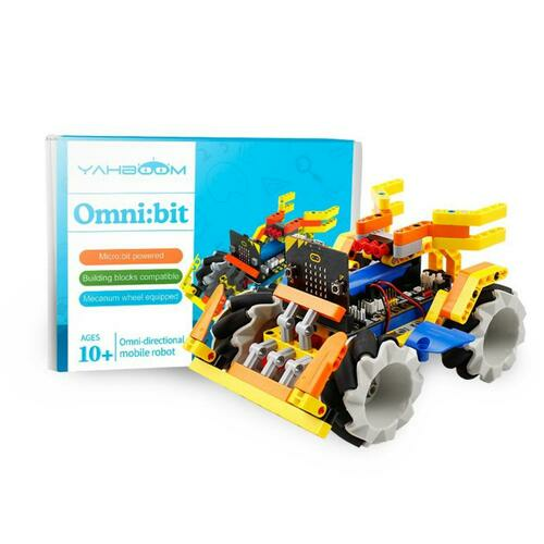 Omni:bit smart robot car with Mecanum Wheel parts kit