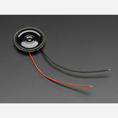 Mini Metal Speaker w/ Wires - 8 ohm 0.5W