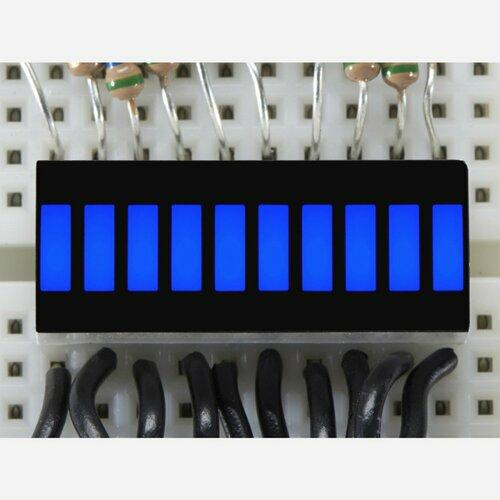 10 Segment Light Bar Graph LED Display - Blue [KWL-R1025BB]