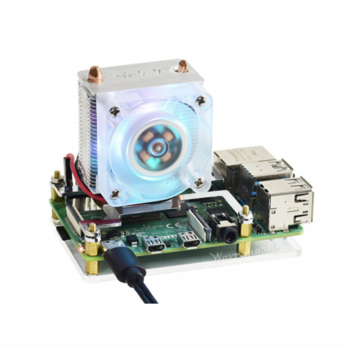 ICE Tower CPU Cooling Fan for Raspberry Pi 4  3, Super Heat Dissipation