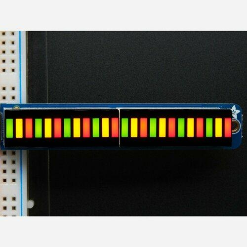 Bi-Color (Red/Green) 24-Bar Bargraph w/I2C Backpack Kit