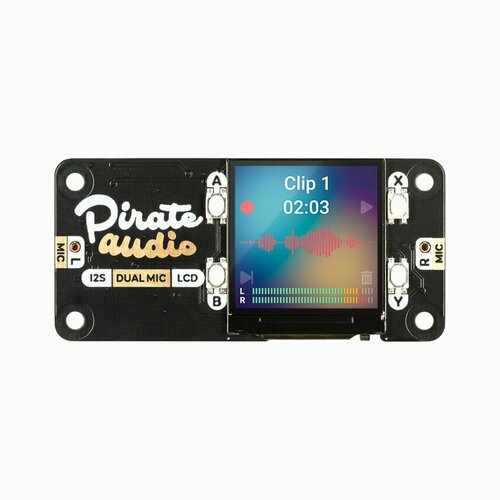 Pirate Audio: Dual Mic for Raspberry Pi