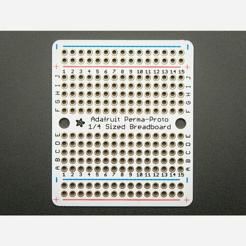 Adafruit Perma-Proto Quarter-sized Breadboard PCB - Single