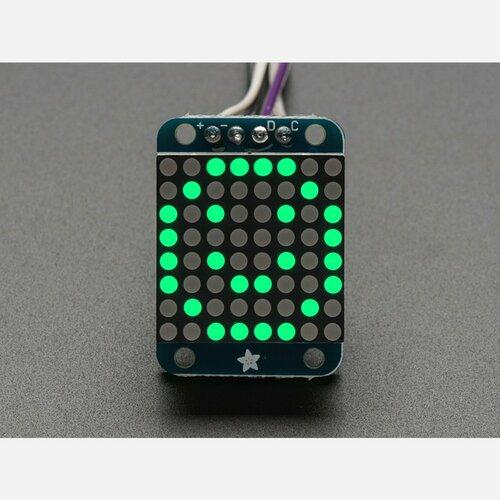 Adafruit Mini 0.7 8x8 LED Matrix w/I2C Backpack - Pure Green