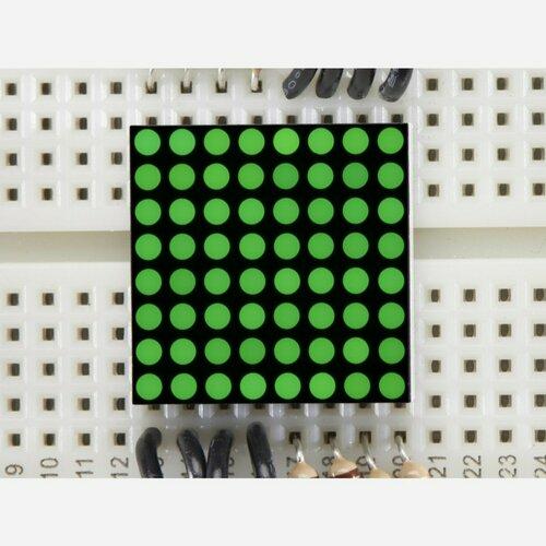 Miniature 0.8 8x8 Pure Green LED Matrix [KWM-20882CPGB]