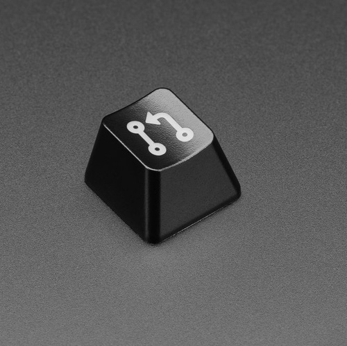Etched Glow-Through Keycap with Pull Request Logo - MX Compatible Switches