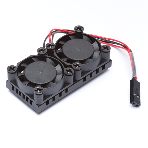 Dual Cooling Fans Heatsink Kit with Adhesive Tape For Raspberry Pi 2 / 3 Model B