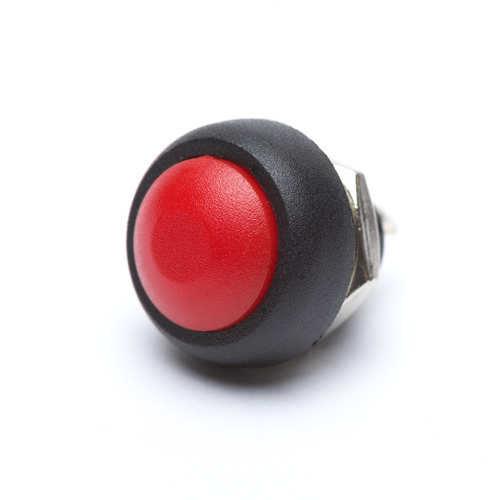 12mm Momentary Push Button Dome - Red