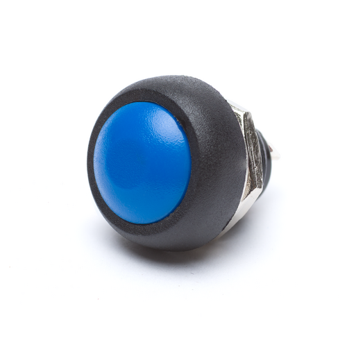 12mm Momentary Push Button Dome - Blue