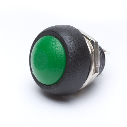 12mm Momentary Push Button Dome - Green