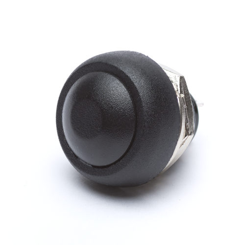 12mm Momentary Push Button Dome - Black