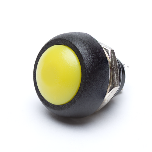 12mm Momentary Push Button Dome - Yellow