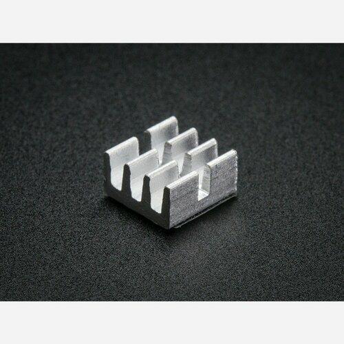 Aluminum SMT Heat Sinks 10 Pack - 0.25x0.25 x 0.15 tall