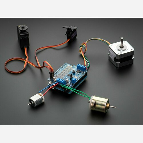 Adafruit Motor/Stepper/Servo Shield for Arduino v2 Kit [v2.3]