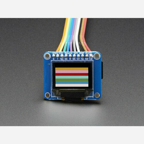OLED Breakout Board - 16-bit Color 0.96 w/microSD holder