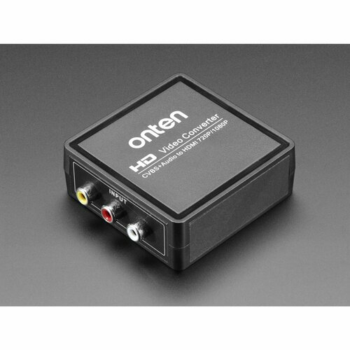 AV (NTSC or PAL) to HDMI (720p or 1080p) Video and Audio Adapter
