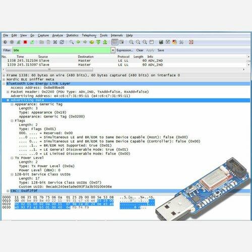 Bluefruit LE Sniffer - Bluetooth Low Energy (BLE 4.0) - nRF51822 [v3.0]