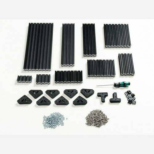 OpenBeam Advanced Precut Kit - Black Aluminum