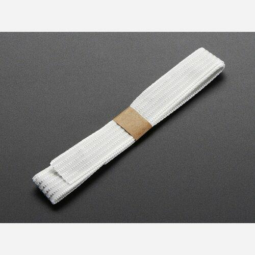 Conductive thread ribbon cable - White - 1 yard