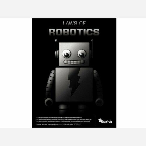 3 Laws of Robotics poster