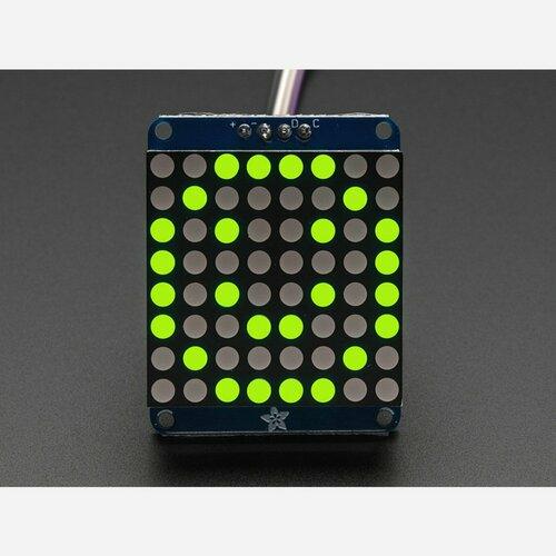Adafruit Small 1.2 8x8 LED Matrix w/I2C Backpack - Green