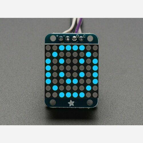 Adafruit Mini 0.7 8x8 LED Matrix w/I2C Backpack - Blue