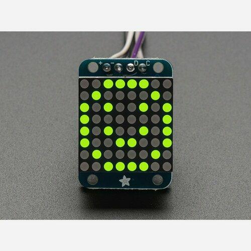 Adafruit Mini 0.7 8x8 LED Matrix w/I2C Backpack - Yellow-Green