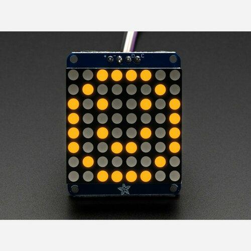 Adafruit Mini 0.7 8x8 LED Matrix w/I2C Backpack - Yellow