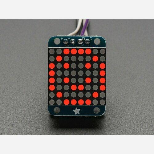 Adafruit Mini 0.7 8x8 LED Matrix w/I2C Backpack - Red