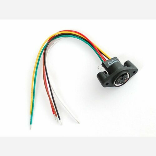 PS/2 Wired Connector - Panel Mount MiniDIN-6