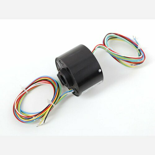 Toroid Slip Ring - 2.1 OD 1/2 ID, 6 wires, max 240V @ 5A