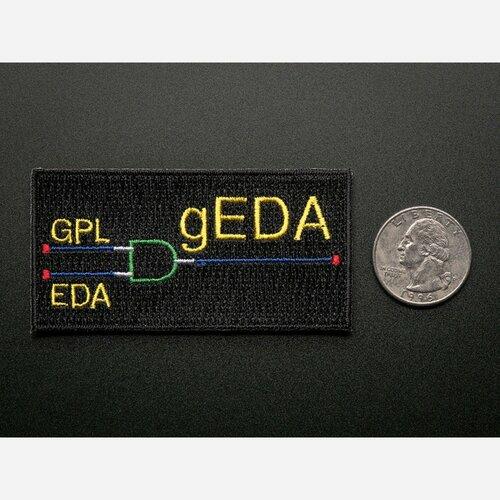 gEDA - Skill badge, iron-on patch