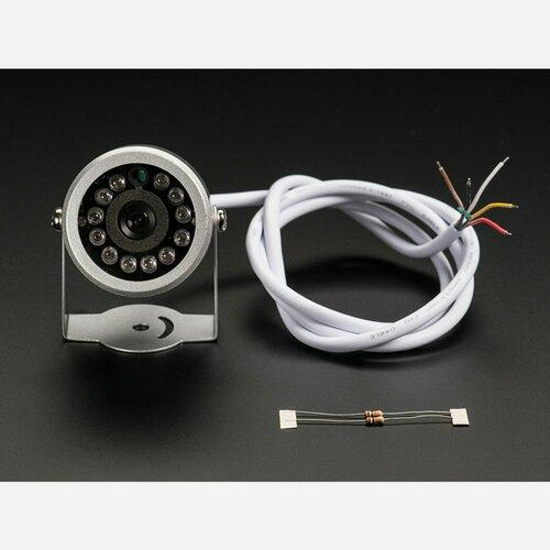 Weatherproof TTL Serial JPEG Camera with NTSC Video and IR LEDs