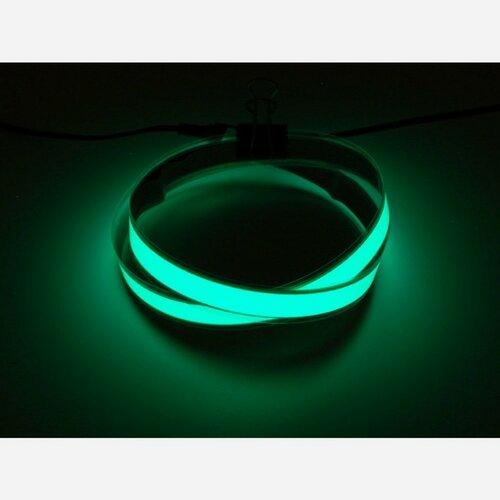Green Electroluminescent (EL) Tape Strip - 100cm w/2 connectors