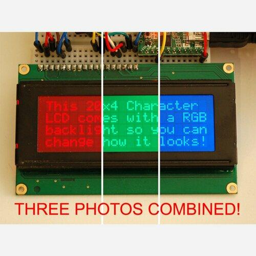 RGB backlight negative LCD 20x4 + extras [RGB on black]