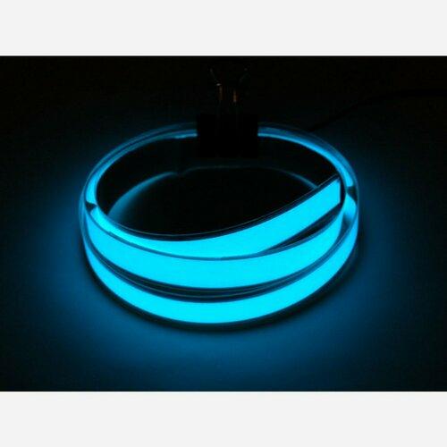 Aqua Electroluminescent (EL) Tape Strip - 100cm w/two connectors