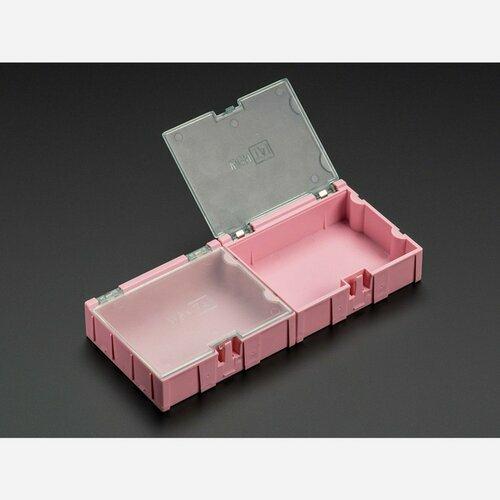 Medium Modular Snap Boxes - SMD component storage - 2 pack [Pink]