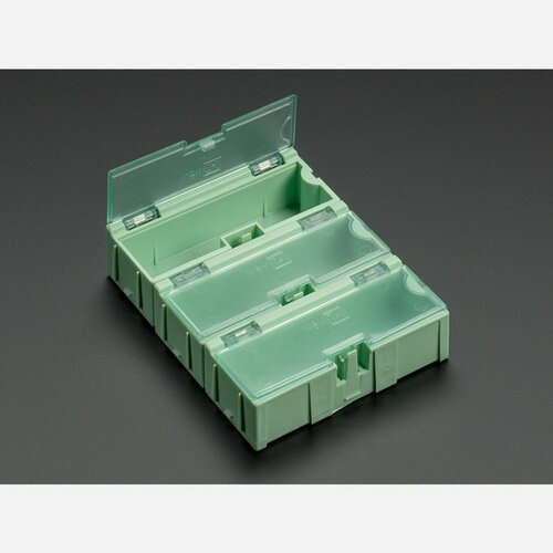 Small Modular Snap Boxes - SMD component storage - 3 pack [Green]
