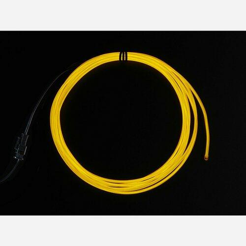 High Brightness Yellow Electroluminescent (EL) Wire - 2.5 meters [High brightness, long life]
