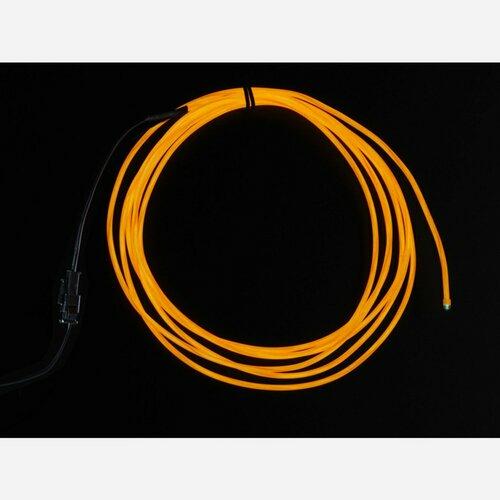 High Brightness Orange Electroluminescent (EL) Wire - 2.5 meters [High brightness, long life]